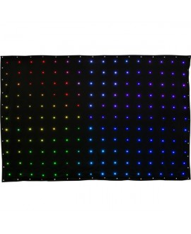 Tenda LED 3x2m RGB DMX flessibile Virtualdrape
