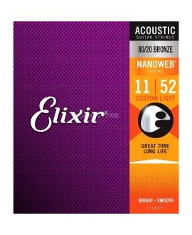 Elixir 11027 Acoustic 80/20 Bronze Nanoweb